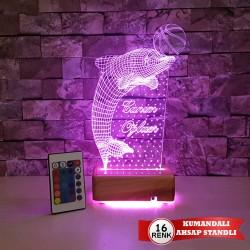 YUNUS  3D LED LAMBA - SEVDİKLERİNİZE ÖZEL İSİMLİ LED LAMBA - DEKORATİF 3D LED