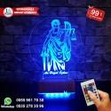THEMİS ADELET SEMBOLLÜ 3D LED LAMBA - İSİMLİ KİŞİYE ÖZEL 3 BOYUTLU DEKORATİF LED LAMBA