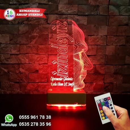 ATATÜRK TASARIMLI  3D LED LAMBA - İSİMLİ KİŞİYE ÖZEL 3 BOYUTLU DEKORATİF LED LAMBA
