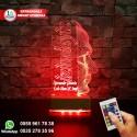 ATATÜRK TASARIMLI  3D LED LAMBA - İSİMLİ KİŞİYE ÖZEL Öğretmenler Günü Hediyesi