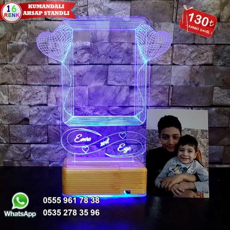 Resim Çerçeveli Led Masa Lambası Kişiye Özel İsimli Led Lamba Resimli Masa Lambası