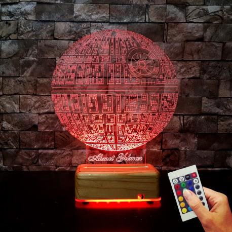 STARWARS-OLUMYILDIZI 3D LED LAMBA - İSİMLİ KİŞİYE ÖZEL İSİMLİ