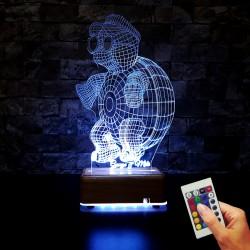 KAPLUMBAGA 3D LED LAMBA KİŞİYE ÖZEL LED HEDİYE