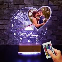 RESİMLİ KALPLİ 3D İSİMLİ LED LAMBA SEVGİLİYE HEDİYE LED LAMBA
