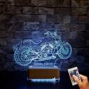 Doğum Günü Hediyesi İsimli Masa Lambası Harley Motor İsimli Gece Lambası