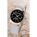 İsimli Sonsuzluk Model Bayan Kol Saati Kişiye Özel Hediye Saat Beyaz Kordon