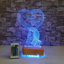 UZUN KALPLİ 3 BOYUTLU ÖZEL İSİMLİ LED LAMBA - DEKORATİF 3D LED LAMBA