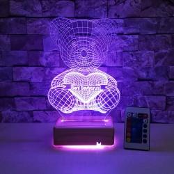 AYICIK 3D LED LAMBA - SEVDİKLERİNİZE ÖZEL İSİMLİ LAMBA - DEKORATİF LED LAMBA