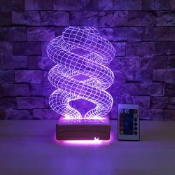 HELEZON 3D İsimli Led Lamba - Dekoratif Led Lamba - 3 Boyutlu Led Lamba