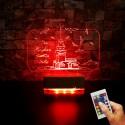 KIZ KULESİ TASARIMLI  3D LED LAMBA - İSİMLİ KİŞİYE ÖZEL 3 BOYUTLU DEKORATİF LED LAMBA