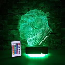 ÇİZGİ FİLM KAHRAMANI MODEL 3 BOYUTLU KİŞİYE ÖZEL LED LAMBA  - 3D LED DEKORATİF LAMBA