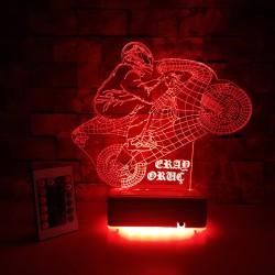 MOTORCU 3 BOYUTLU KİŞİYE ÖZEL LED LAMBA  - DEKORATİF LED LAMBA 3D LED