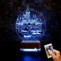 ŞATO SAATLİ İSİMLİ LED LAMBA 3D RESİMLİ LAMBA