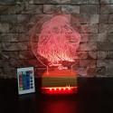 ASLAN KAFALI 3D LED LAMBA - İSİMLİ KİŞİYE ÖZEL 3 BOYUTLU DEKORATİF LED LAMBA