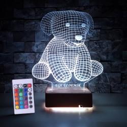 3D KÖPEK LED LAMBA - İSİMLİ KİŞİYE ÖZEL 3 BOYUTLU DEKORATİF LED LAMBA
