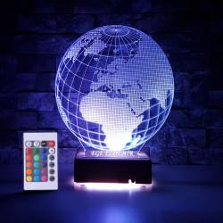 WORLD 3D LED LAMBA - İSİMLİ KİŞİYE ÖZEL 3 BOYUTLU DEKORATİF LED LAMBA