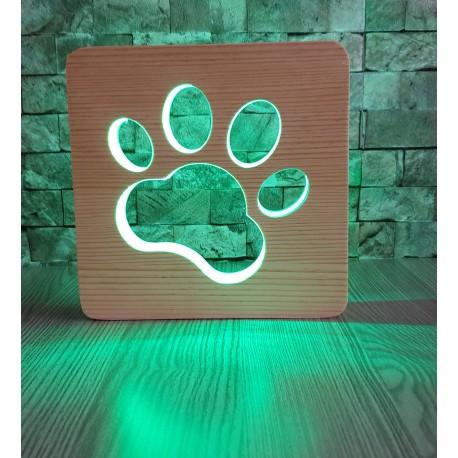 Pati Ahşap Gece Lambası 16 Renkli Led Lamba Çocuk Odası Lambası