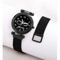 Siyah Renk İsimli Bayan Saati Kişiye Özel Hediye