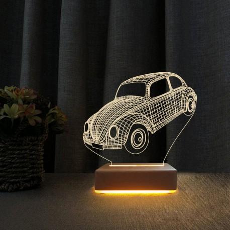 Klasik Vosvos Tasarımlı 3d Led Gece Lambası Doğum Günü Hediyesi
