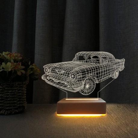 Klasik Araba 3d Led Lamba Masa Gece Lambası