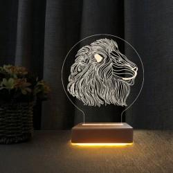 Aslan Tasarım Led Gece Lambası Doğum Günü Hediyesi Lamba