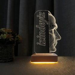 Ataturk Tasarım 3d Led Lamba Öğretmene Hediye Atam Gece Lambası