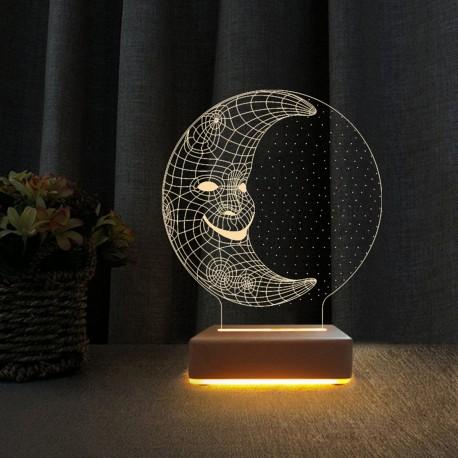 Aydede 3d Led Gece Lambası Doğumgünü Hediyesi Lamba