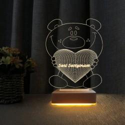 Çocuk Odası Gece Lambası Seni Seviyorum Yazılı 3d Led Lamba