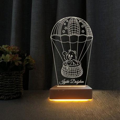 Balonlu Doğum Günü Hediyesi Gece Lambası İyiki Doğdun Yazılı Lamba