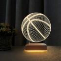 Basketbol Topu 3d Led Lamba Masa Gece Lambası