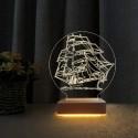 3d Doğum Günü Hediyesi Gemi Tasarım Gece Lambası