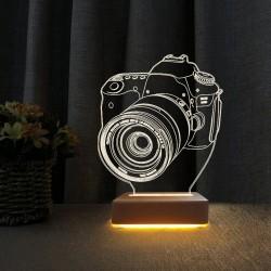 Fatağraf Makinesi Tasarım 3d Gece Lambası