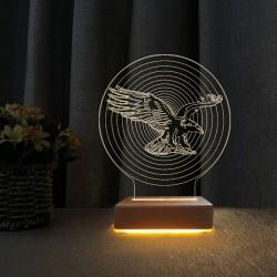 3d Gece Lambası Beşiktaşlılara Hediye Kara Kartal Tasarımlı Masa Lambası