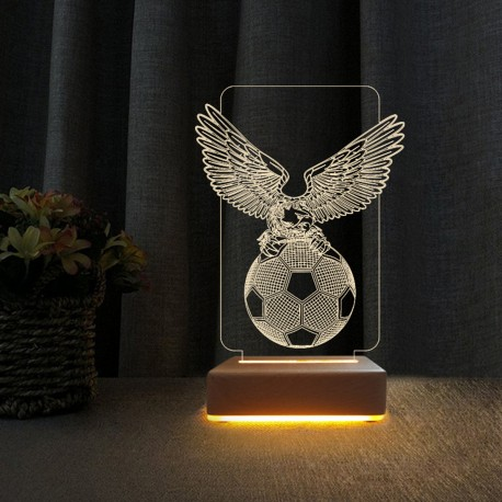 3d Gece Lambası Beşiktaşlılara Hediye Kartal Futbol Topu Tasarımlı Masa Lambası