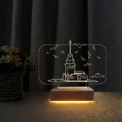 3d Sevgiliye Hediye Kız Kulesi Tasarım Gece Lambası