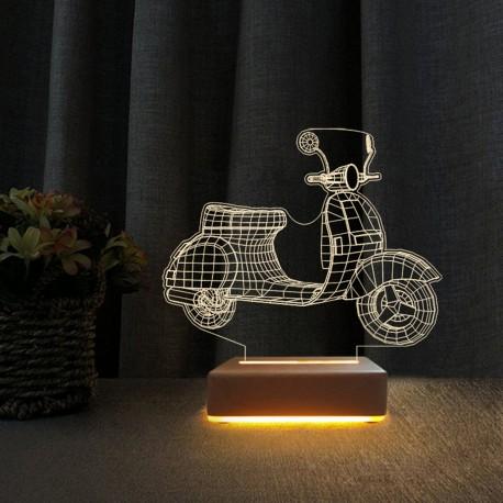 3d Ilizyon Led Lamba Scoter Motor Tasarım Gece Lambası