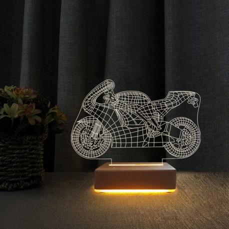 Yarış Motoru 3d Gece Lambası Doğum Günü Hediyesi Lamba