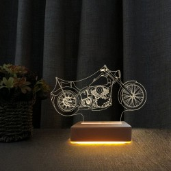 Harley Motor 3d Gece Lambası Doğum Günü Hediyesi Led Lamba