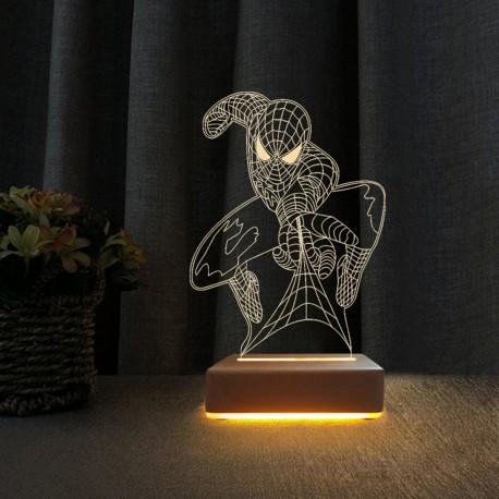 Örümcek Adam 3d Gece Lambası Çocuk Odası Gece Lambası