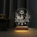 Osmanlı Tura 3d Gece Lambası Doğum Günü Hediyesi Led Lamba