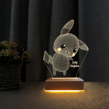 3d Dekoratif Masa Lambası Çocuk Odası Pikachu Gece Lambası