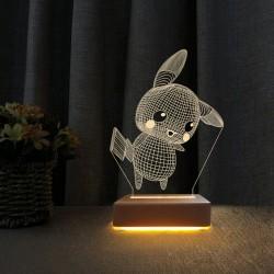 Pikachu İyiki Doğdun Yazılı Masa Lambası Çocuk Odası Gece Lambası