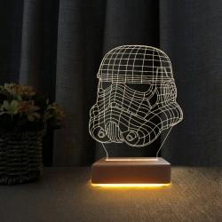 3d Star Wars Askeri Tropper Lamba Çocuk Odası Gece Lambası