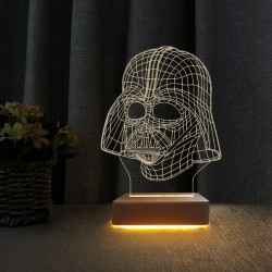 3d Star Wars Darth Vader Lamba Çocuk Odası Gece Lambası