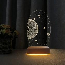 3d Dekoratif Masa Lambası Çocuk Odası Uzay Tasarım Gece Lambası