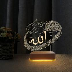 3d Dekoratif Masa Lambası Vav Tasarım Anneye Hediye Gece Lambası