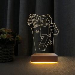 3d Dekoratif Masa Lambası Çocuk Odası Yunus Gece Lambası