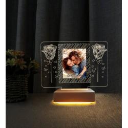Anneye Hediye Resimli Gece Lambası Anneler Günü Hediyesi Lamba