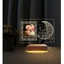 Doğum Günü Hediyesi Resimli Gece Lambası Fotoğraflı Led Lamba