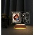 Resimli Gece Lambası Doğum Günü Hediyesi Led Masa Lambası